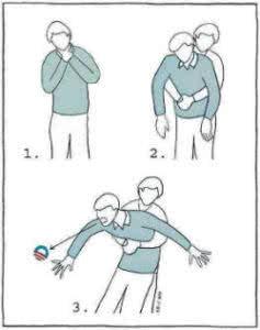 Как оказывать помощь, если человек поперхнулся